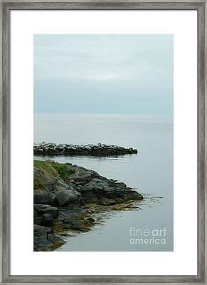 Edge Rocks Framed Print by Georgia Sheron