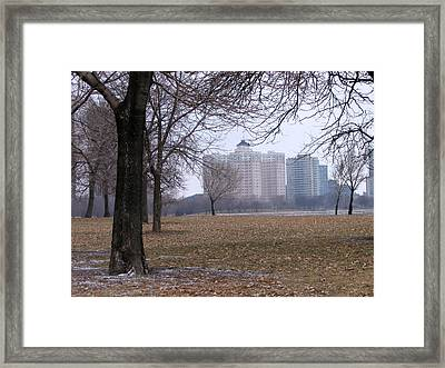 Edgewater Beach Apartments Framed Print