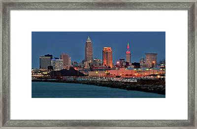 Edgewater Night View Framed Print by Frozen in Time Fine Art Photography