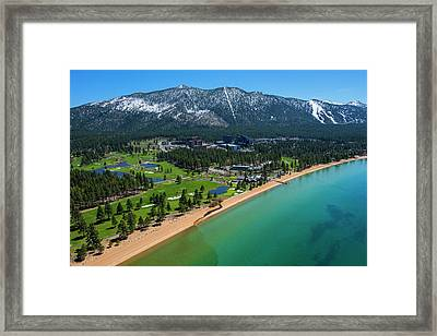 Framed Print featuring the photograph Edgewood By Air by Brad Scott