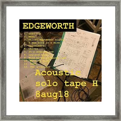 Edgeworth Acoustic Solo Tape H Framed Print