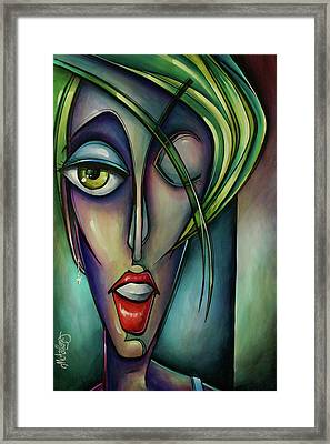 Edgey Framed Print by Michael Lang