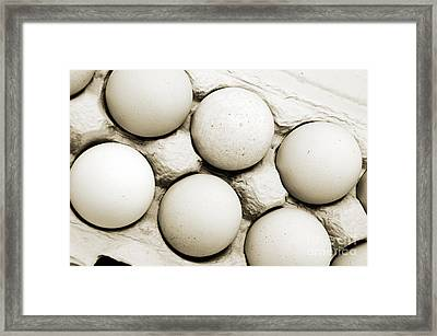 Edgy Farm Fresh Eggs Framed Print