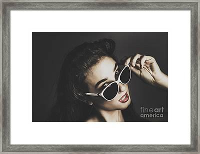 Edgy Fashion Pin Up Model Framed Print