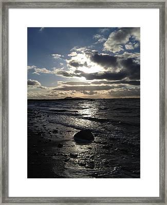 Edinburgh Big Sky Framed Print by Scott Brennan