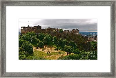 Edinburgh Castle Framed Print by Louise Fahy