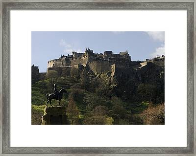 Edinburgh Castle Framed Print by Mike Lester