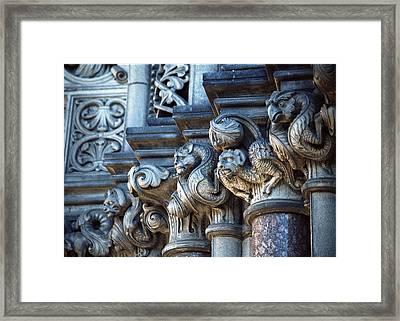 Framed Print featuring the photograph Edinburgh Gargoyles by Kenneth Campbell
