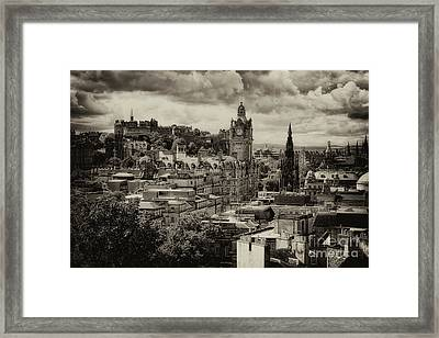 Framed Print featuring the photograph Edinburgh In Scotland by Jeremy Lavender Photography