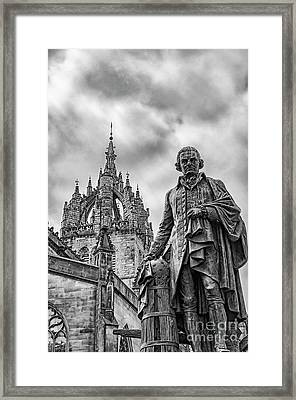 Edinburgh Statue Of Adam Smith Framed Print by Antony McAulay