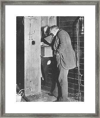 Edison Fluoroscope, 1896 Framed Print