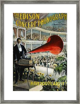 Edison Phonograph Ad, 1899 Framed Print by Granger