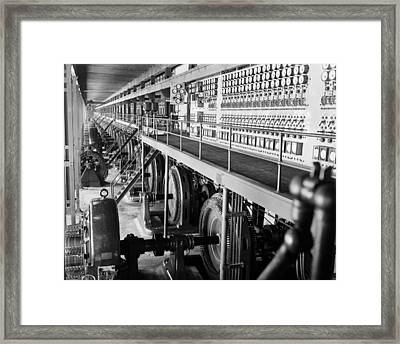 Edison Sault Power Plant At Sault Ste Framed Print
