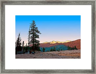 Framed Print featuring the painting Edison Sunset by Larry Darnell