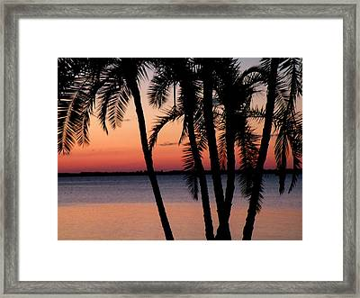 Framed Print featuring the photograph Edison Sunset by Rosalie Scanlon