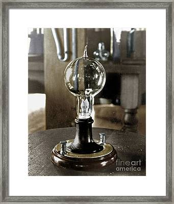 Edison's Light Bulb, 1879 Framed Print by Granger