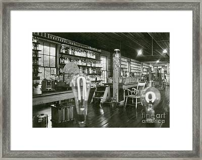 Edisons Menlo Park Lab Framed Print by Science Source