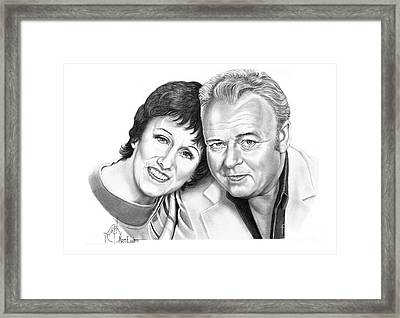 Edith And Archie Bunker Framed Print by Murphy Elliott