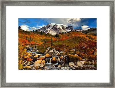 Edith Creek Sunrise Framed Print by Adam Jewell
