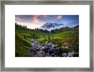 Edith Creek Sunset Framed Print by Dan Mihai