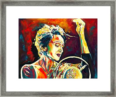 Edith Piaf- La Mome Framed Print by Vel Verrept