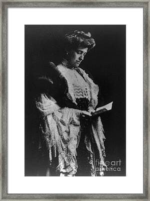 Edith Wharton, American Author Framed Print by Photo Researchers