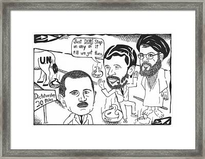 Editorial Cartoon Maze Road To Dictatorship Framed Print by Yonatan Frimer Maze Artist