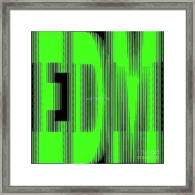 Edm Blur Framed Print