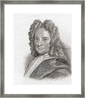 Edmond Halley, 1656 To 1742. English Framed Print by Vintage Design Pics