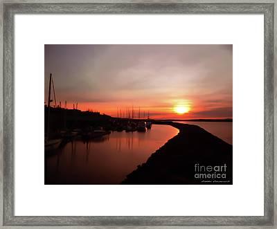 Edmonds Washington Boat Marina At Sunset Framed Print