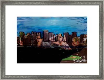 Edmonton Landscape 1 Framed Print by Kim Peto