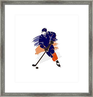 Edmonton Oilers Player Shirt Framed Print by Joe Hamilton