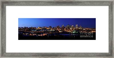 Edmonton Skyline Panorama 4 Framed Print by Terry Elniski