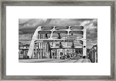 Edmund Pettus Bridge - Selma Framed Print