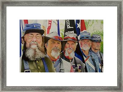 Edmund Ruffin Fire Eaters Color Guard 2016 Framed Print
