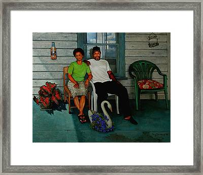 Edna And Sammy Of Johnston County Framed Print by Doug Strickland