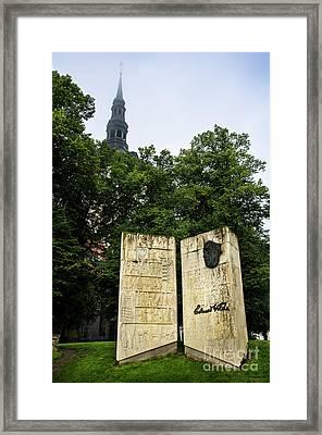 Eduard Vilde Memorial Tallinn Framed Print by RicardMN Photography