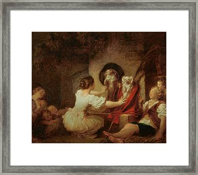 Education Is All Framed Print by Jean-Honore Fragonard