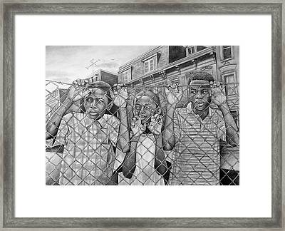 Education Is The Way Out Framed Print by Curtis James