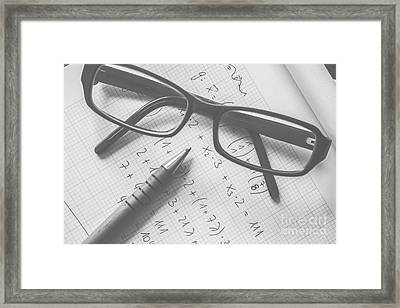 Education Smarts Framed Print