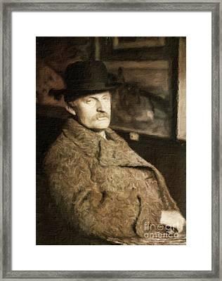 Edvard Munch, Artist By Mary Bassett Framed Print