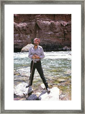 Edward Abbey, Author Of Desert Solitaire, Shown Here By The Colo Framed Print
