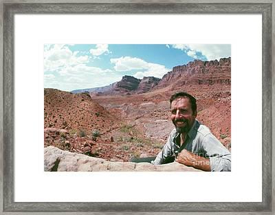 Edward Abbey In The Desert, 1969 Framed Print
