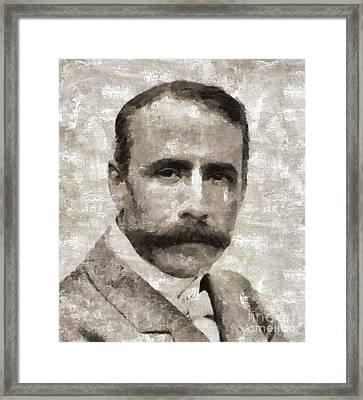 Edward Elgar, Composer Framed Print by Mary Bassett