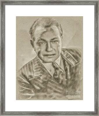 Edward G Robinson Vintage Hollywood Actor Framed Print