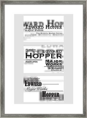 Edward Hopper Series  Framed Print