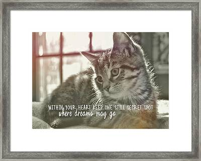 Edward Quote Framed Print by JAMART Photography