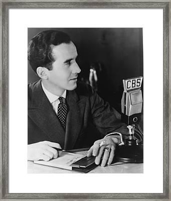 Edward R. Murrow 1908-1965 Pioneering Framed Print by Everett