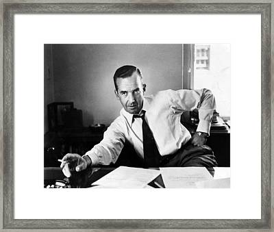 Edward R. Murrow, 1954 Framed Print