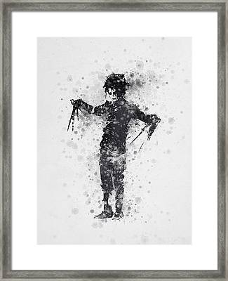 Edward Scissorhands 01 Framed Print by Aged Pixel